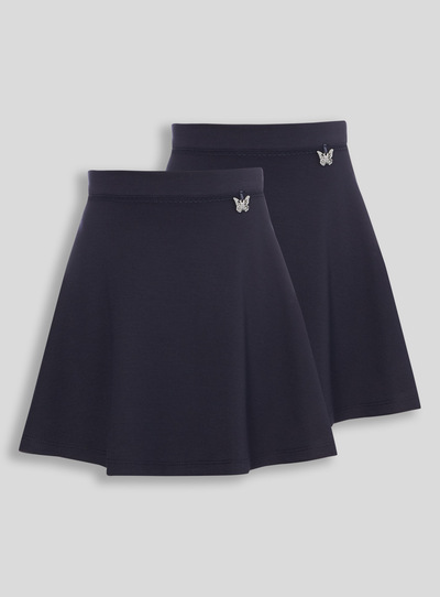 Navy Jersey Skirts 2 Pack (3-12 years)