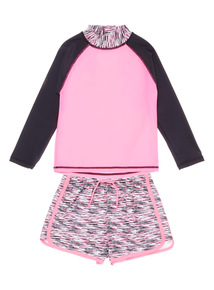 Multicoloured Sports Rash Vest And Woven Shorts (3 - 12 years)