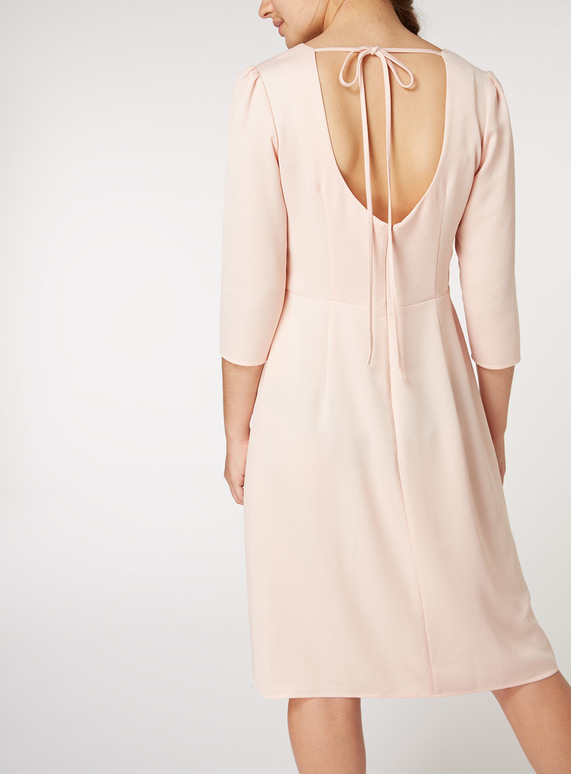 Online Exclusive Pink Satin Midi Dress
