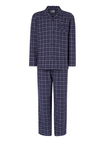 Blue Flannel Pyjama Set