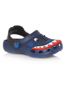Boys Blue Shark Clog