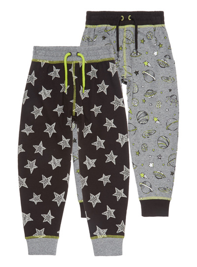 Space Out Lounge Bottoms 2 Pack (3-13 years)
