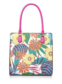 Tropical Printed Shopper Bag