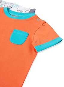3 Pack Multicoloured Sea Life T-Shirts (0-24 months)
