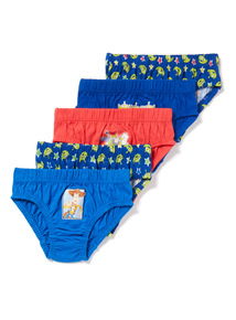 5 Pack Multicoloured Disney Toy Story Briefs (0-24 months)