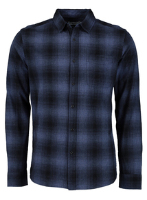 Blue Ombre Regular Fit Check Shirt