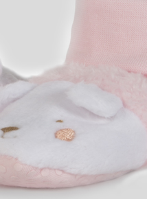 Pale Pink Animal Booties (0-18 months)