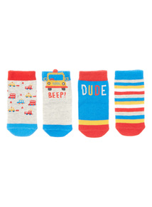 Four Pack Brooklyn Socks (3-24 months)