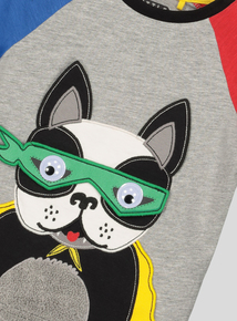 Superhero Pup Appliqué T-Shirt (9 months- 6 years)