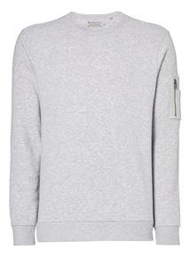 Grey Crew Neck Sweatshirt