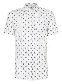 White Stamp Print Shirt
