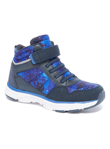 Space Print High Top Trainers
