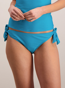 Teal Textured Bikini Brief