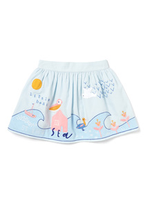 Multicoloured 'By The Sea' Border Skirt (9 months-6 years)