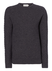 Charcoal Basket Weave Jumper