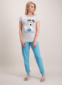 Wallace & Gromit Grey & Teal Pyjamas