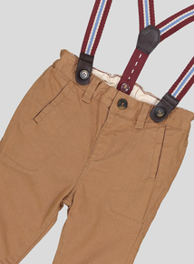 Beige Chino Trousers With Braces (9 Months - 6 Years)