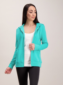 Bright Green Zip Up Hoodie