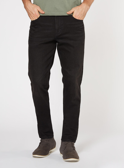 Black Denim Wash Skinny Jeans