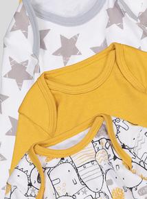 Multicoloured Bodysuits 5 Pack (Newborn - 36 months)