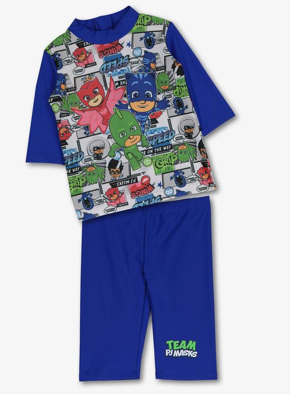 e3bb24e38 Kids PJ Masks Multicoloured Sunsuit 2 Piece Swimsuit (1-6 Years) | Tu  clothing