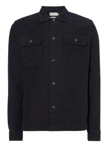 Navy Long Sleeve Moleskin Overshirt
