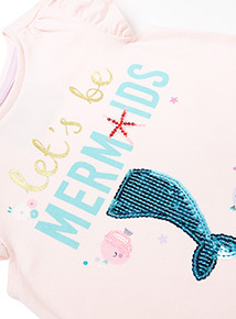 Pink Mermaid T-shirt (9 months-6years)