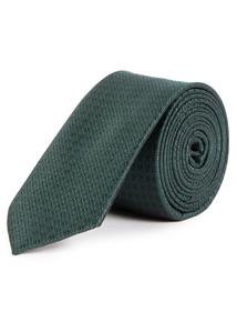 Green Textured Tie