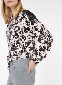 Multicoloured Animal Print Blouse