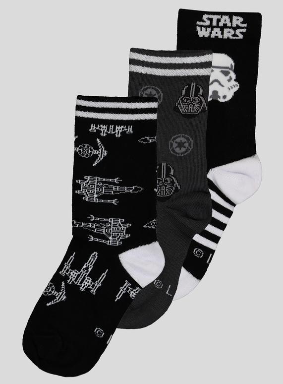 153c2f9bbe Kids Star Wars Socks 3 Pack (Infant 9- 6.5 Adult)