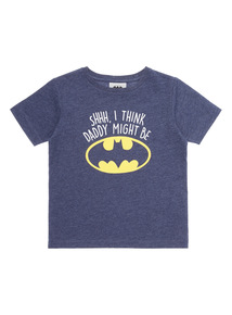 Blue Batman Print T-Shirt (9 months-6 years)