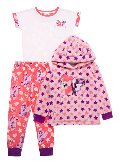Pink My Little Pony Three Piece Pyjama Set (2-10 years)