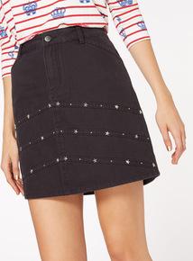 Studded Eyelet Skirt