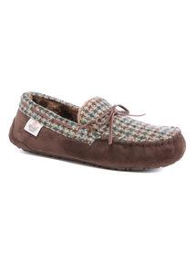 Harris Tweed Moccasin Slipper