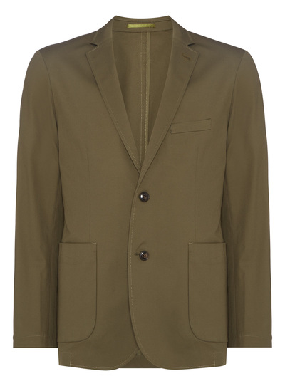 Khaki Slim Fit Jacket