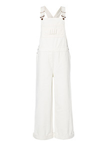 Cream Oversized Dungarees