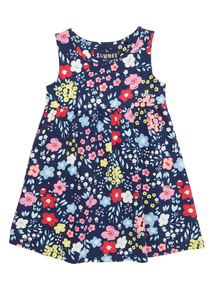 Navy Floral Dress (9 months - 6 years)