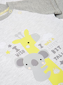 2 Piece Grey Koala T-Shirt and Joggers Set (0-24 months)