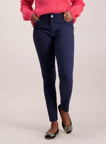 Navy Super Soft Cotton Twill Skinny Jeans