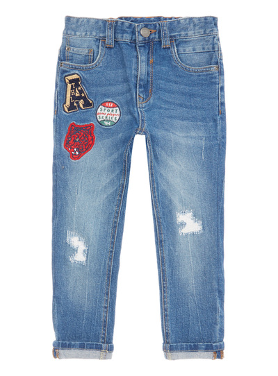 Denim Badged Jeans (3-14 years)