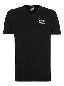 Online Exclusive Russell Athletic Black V-Neck Tee