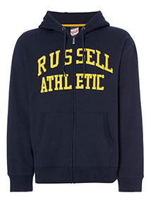 Online Exclusive Russell Athletic Navy Zip Through
