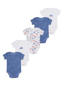 Little Nipper Bodysuits 5 Pack (0 - 24 months)