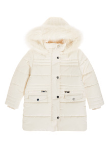 Cream Puffer Jacket (3-14 years)