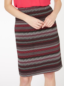 Multicoloured Zig Zag Pencil Skirt