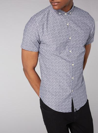 Admiral Blue Daisy Print Shirt