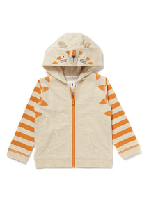Orange Tiger Hoody (0-24 months)