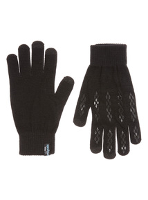 Black Smart Touch Knitted Glove