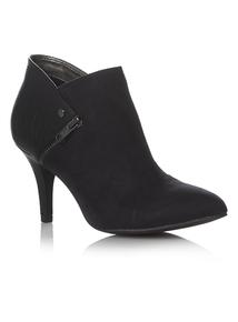 Black Mock Croc Shoe Boots