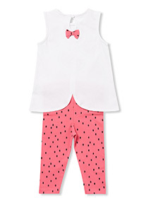 Multicoloured Watermelon Leggings and Vest Set (0-24 months)